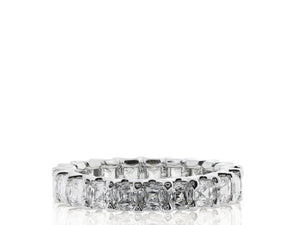 Plat 3.32ct Asscher Cut Diamond Band