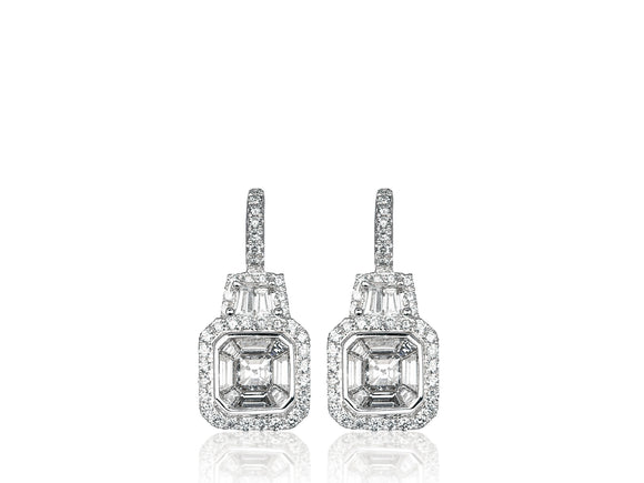 1.45ct Diamond Drop Earrings