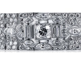 1920s LaCloche Frerès Art Deco Platinum and Diamond Bracelet