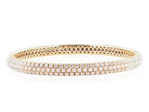 7.55 Carat Rose Gold Diamond Bangle