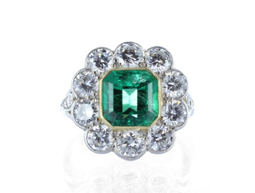 1.96ct Vintage Emerald Ring