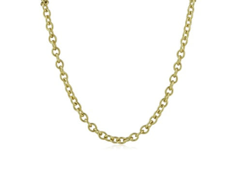 18 Karat Yellow Gold Oval Necklace