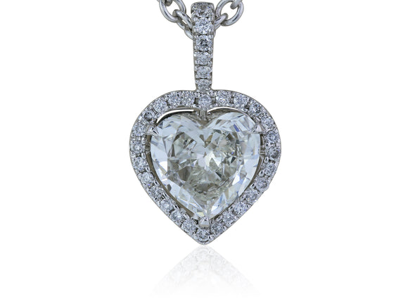 18KT WG 1.65CT I SI1 Heart Shape Diamond Pendant