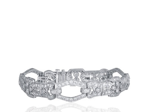 1920s Art Deco Diamond and Platinum Bracelet