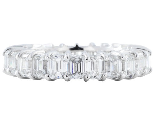 4.70ct Emerald Cut Diamond Eternity Band
