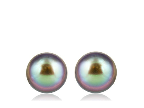 17mm Tahitian Pearl Stud Earrings