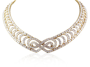 18KT YG 39 CT Mauboussin Diamond Collar Necklace