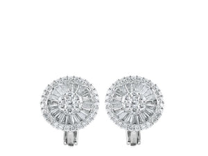 3.19ct Diamond Clip Earrings