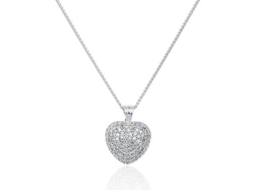1 Carat Diamond Heart Pendant