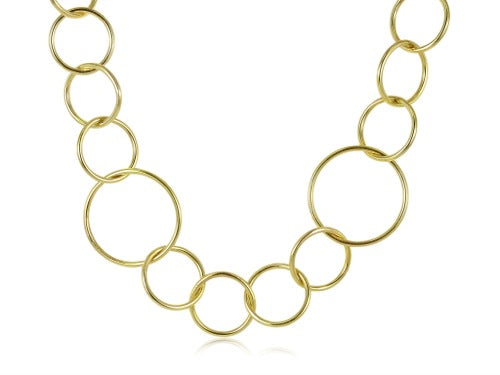 Yellow Gold 30 Inch Linked Chain Necklace