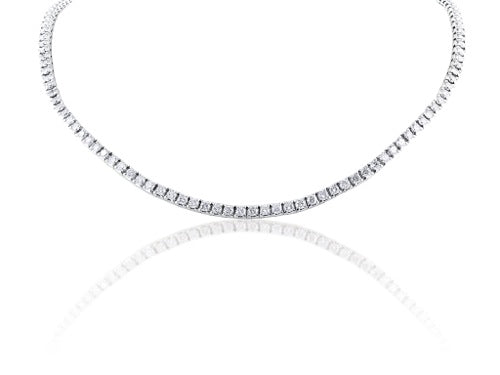 8.08ct Diamond Line Necklace