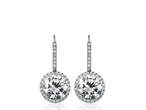 14.35ct J SI1-2 Round Brilliant Cut Diamond Earrings