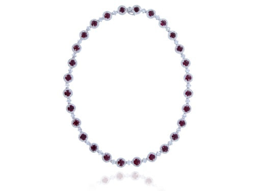 28.11ct Ruby & Diamond Necklace