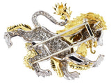 Platinum & Diamond Mcteigue Vintage Lion Pin