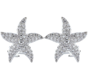 1.01 Carat Pave Diamond Starfish Earrings