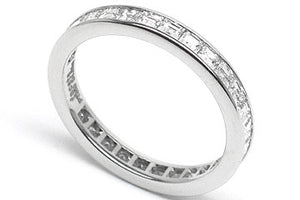 1.25ct Asscher Cut Eternity Band