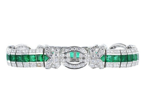 Estate 8.00ctw Emerald & Diamond Bracelet