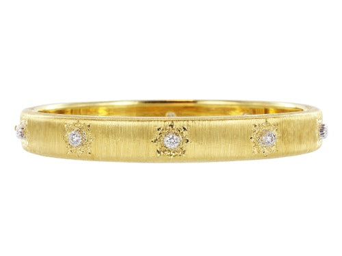 Estate Buccellati Classica Diamond Bangle Bracelet