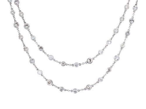 6.70ct Diamond by the Yard Style Necklace