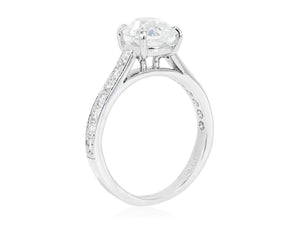 1.51ct H/SI1 Cushion Diamond Solitaire Ring