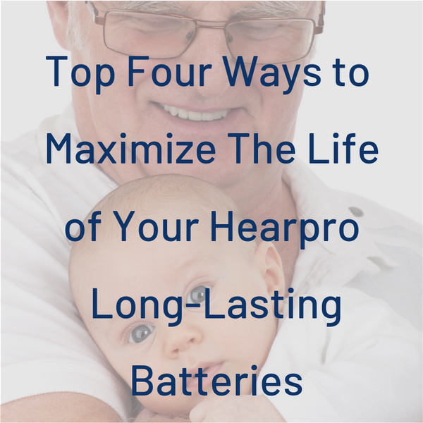 Top Four Ways to get the Longest Life From Your Hearing Aid Batteries, including Size 10, 13, 312 and 675.