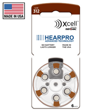 Load image into Gallery viewer, hearpro rayovac long lasting size 312 hearing aid battery
