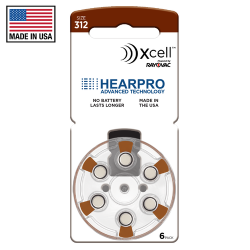 hearpro rayovac long lasting size 312 hearing aid battery