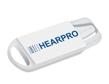 Load image into Gallery viewer, HEARPRO Size 13 Long-Lasting Hearing Aid Batteries 60 Pack - Mercury-Free - Zinc Air Technology - Made in USA - Plus Keychain Battery Case
