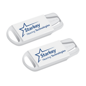 Starkey Hearing Aid Battery Holder Caddy Keychain Case Double