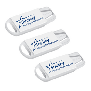 Starkey Size 312 Premium Hearing Aid Batteries 60 Pack - Long Easy Tab - Mercury-Free - Zinc Air Technology - Made in USA - Plus Keychain Battery Case