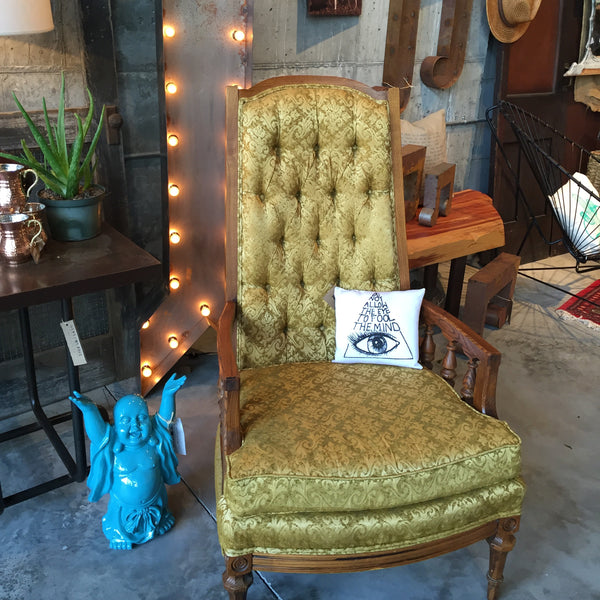 Vintage gold chair with High Back