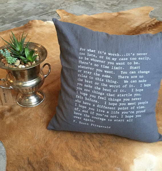 Fitzgerald Quote Pillow