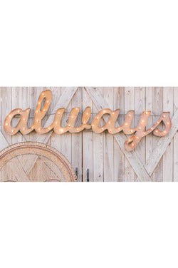 ALWAYS MARQUEE SIGN - EVENT RENTAL Gypsy Jule