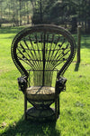 BROWN ORNATE PEACOCK CHAIR - RENTAL Gypsy Jule