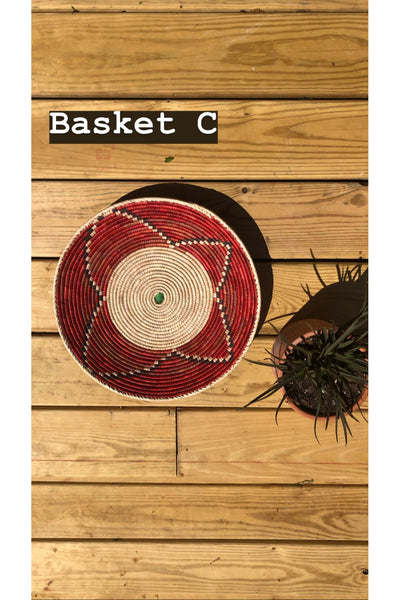HAND WOVEN COLOR BASKETS - ASSORTED Gypsy Jule