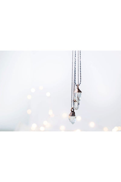 "Hawkhouse - 18"" Sterling Silver Raw Crystal Necklace Hawkhouse"
