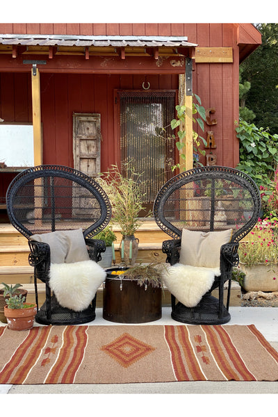 Johnny and June Peacock Chair Rental Gypsy Jule
