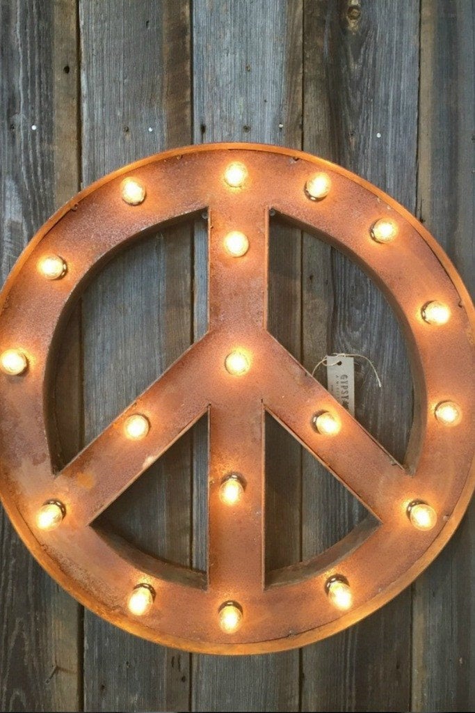 PEACE MARQUEE SIGN - EVENT RENTAL