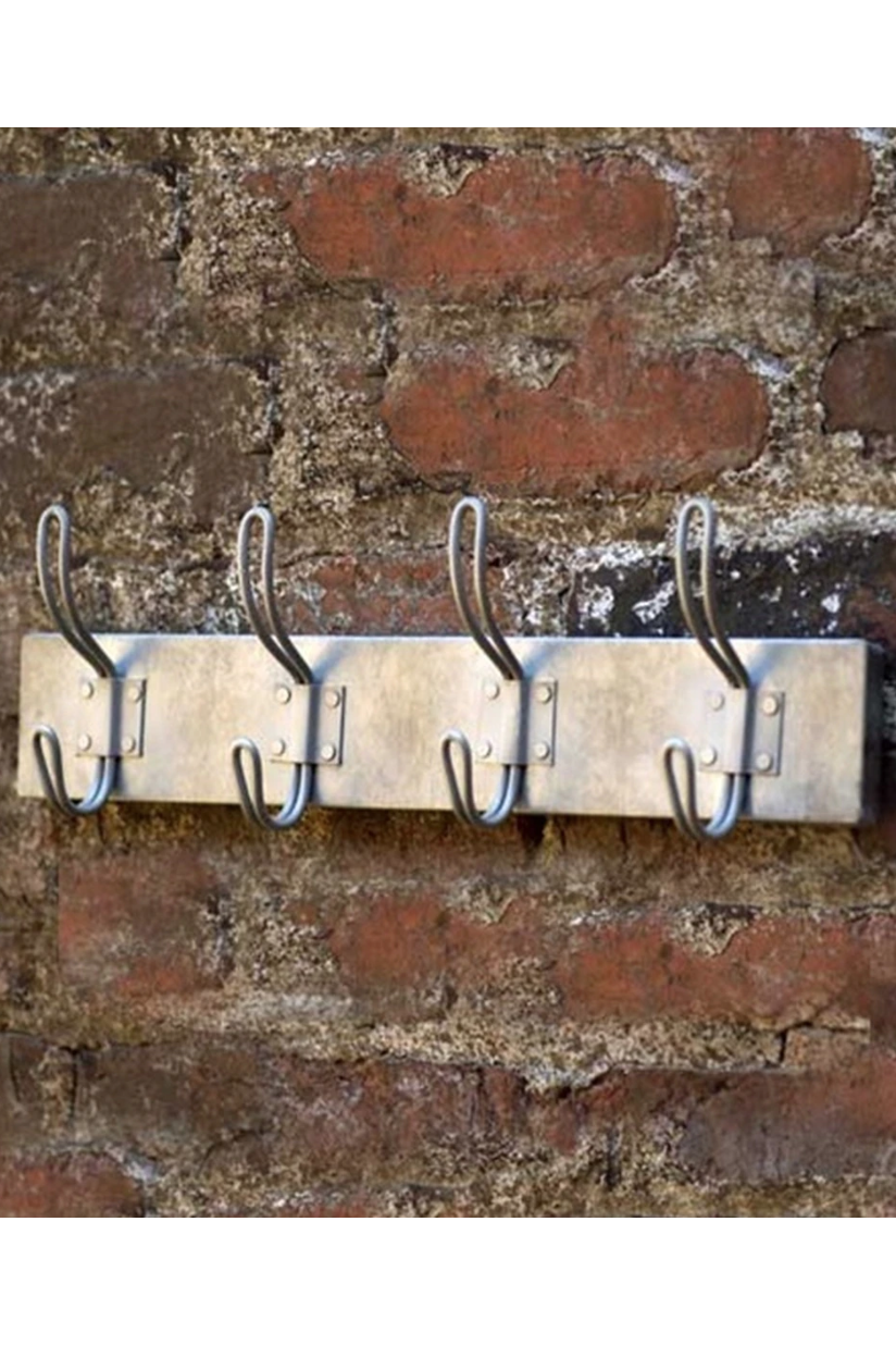 Vagabond Vintage - Metal Coat Rack with Four Hooks