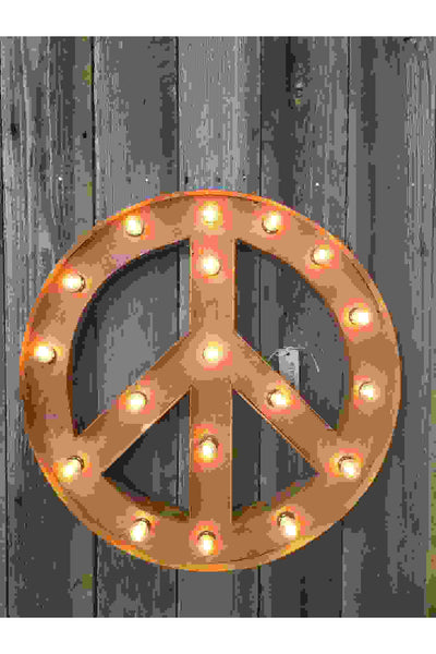 VINTAGE STYLE MARQUEE PEACE SIGN Gypsy Jule