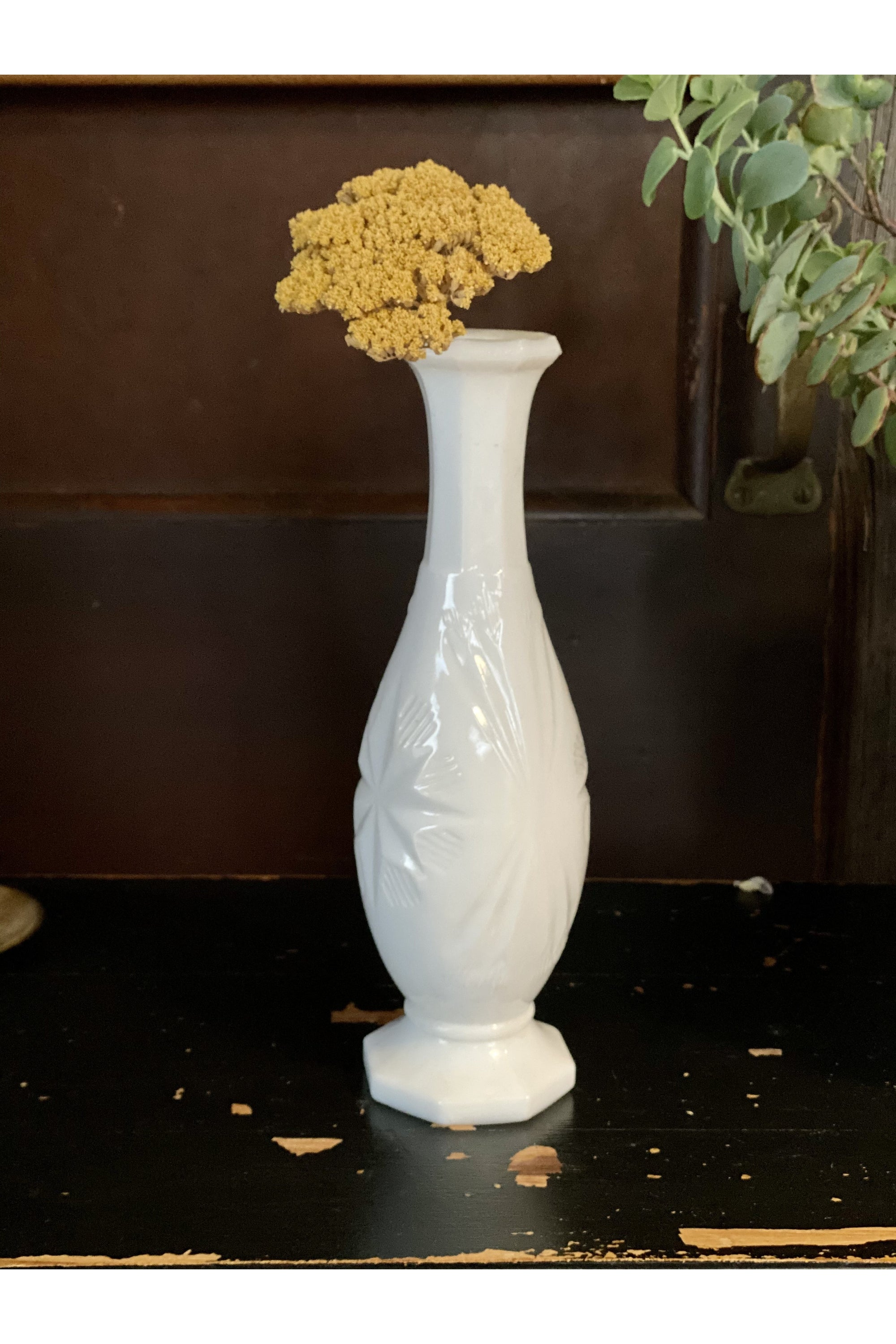Milk Glass Bud Vase - Vintage