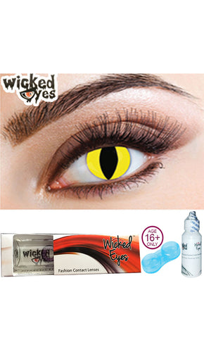 30 Day Contact Lense - Feline (Predator) Yellow