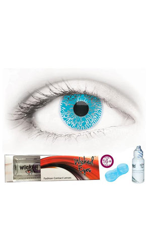 30 Day Contact Lense - Aqua Blue
