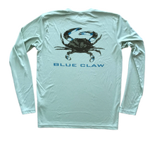 Load image into Gallery viewer, Blue Claw Sun Shirt // Green