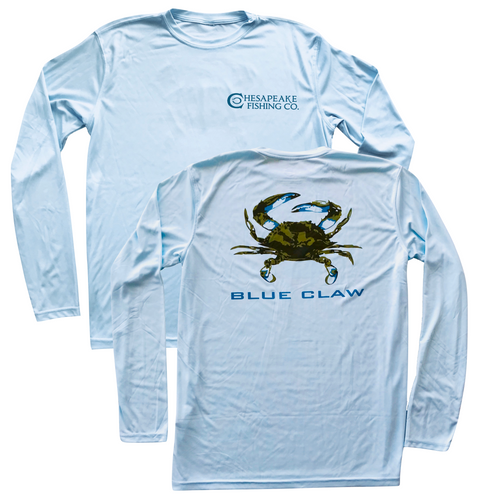 Blue Claw Sun Shirt // Sky