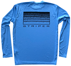 Striper Sun Shirt // Blue