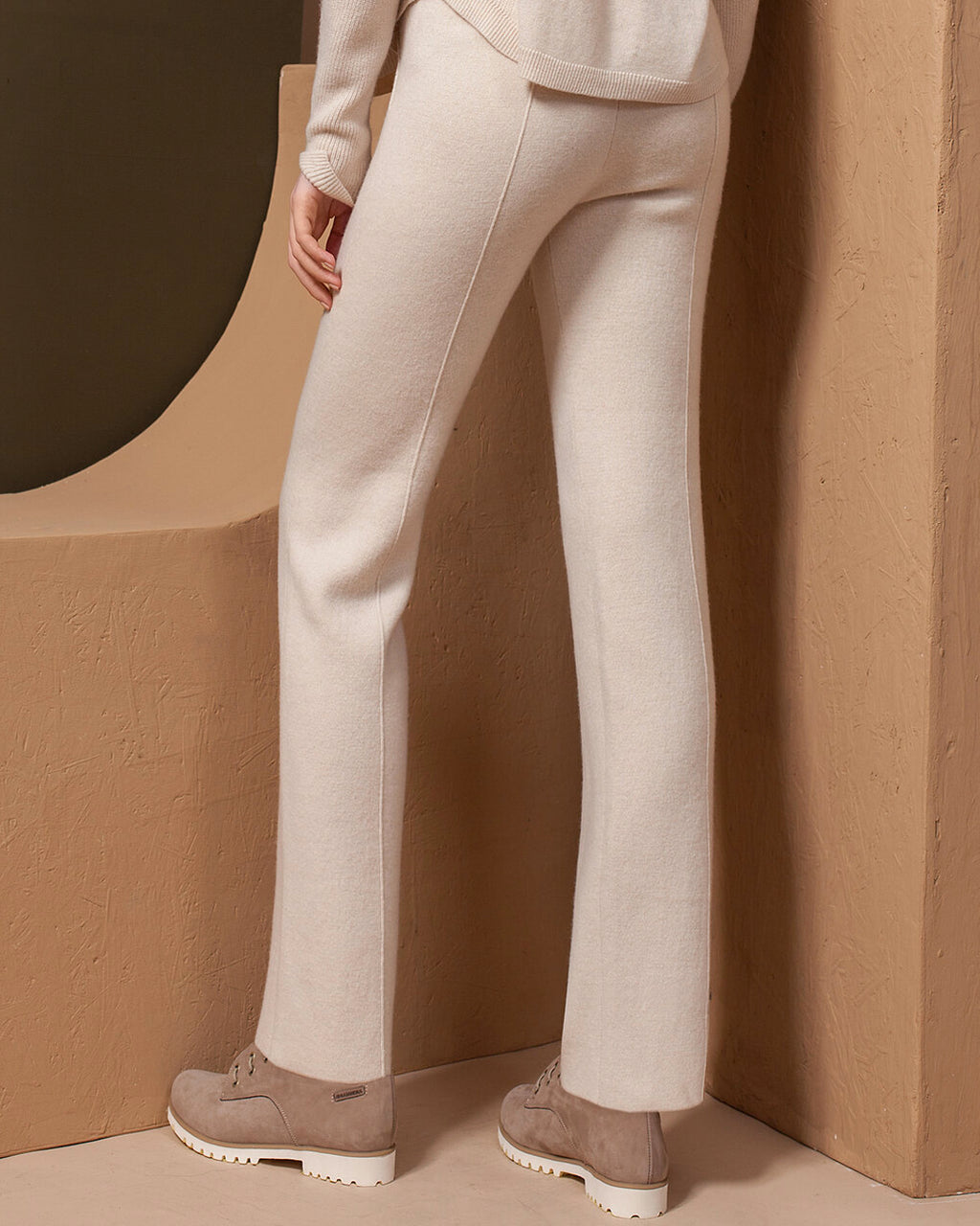 Straight 2-ply Cashmere Pants
