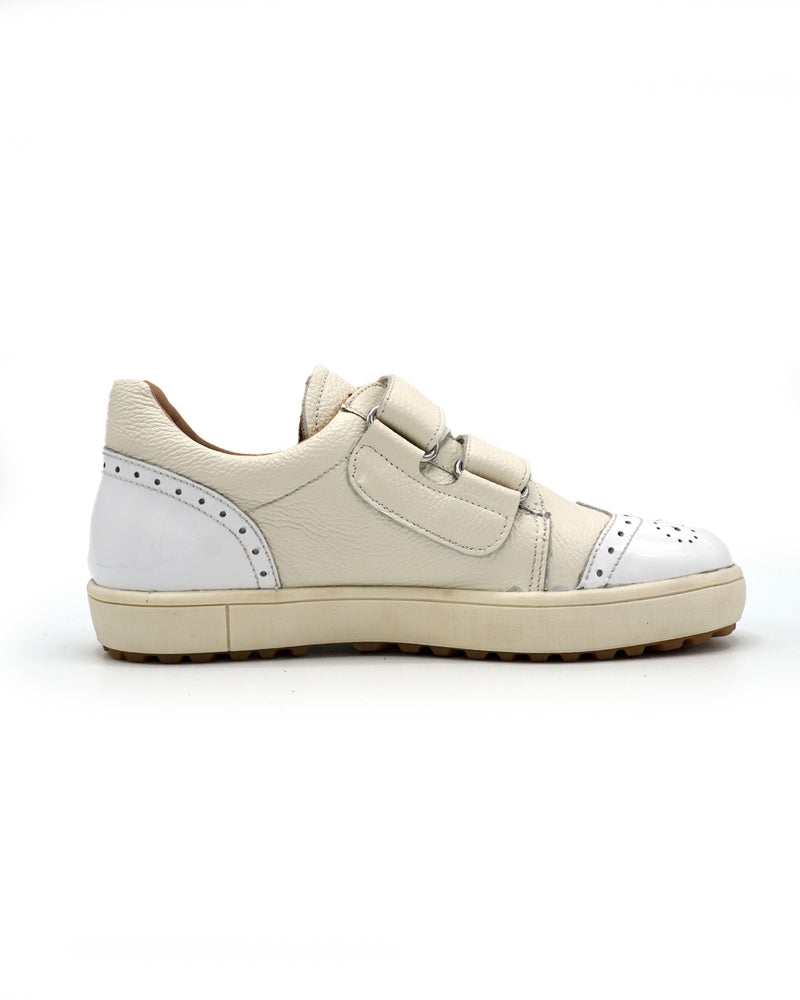 Leather Sneaker with Sticky Strap for Kids