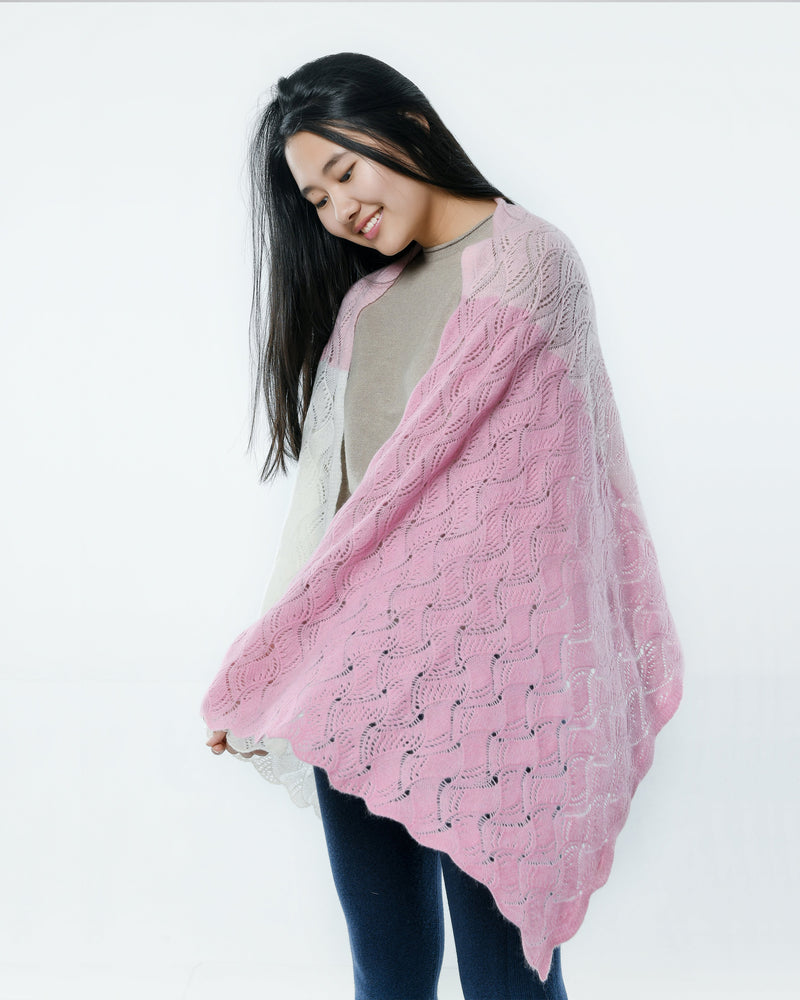 Intricately Knitted Cashmere Shawl
