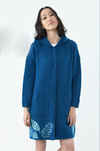 Colorful Cashmere Coat with Hoodie